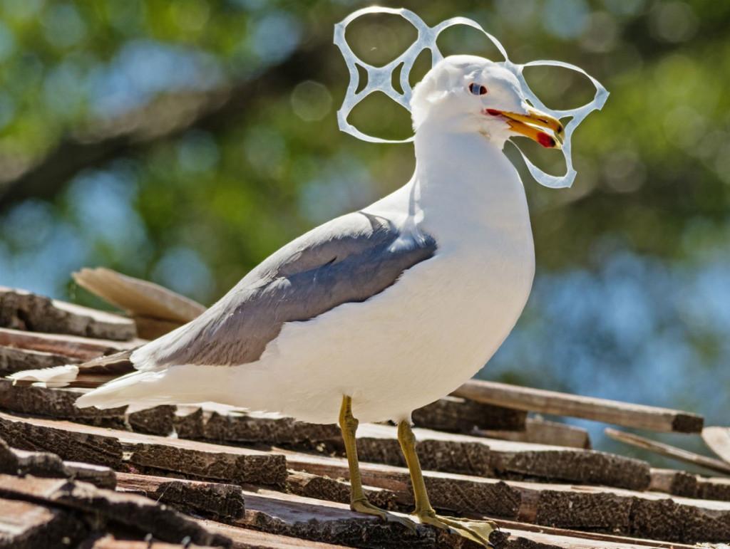 Muchos animales sufren las consecuencias de la contaminación de plásticos
