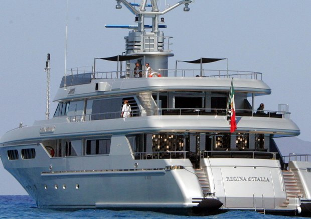 Imagen del Regina d'Italia, yate de los diseñadores italianos.
