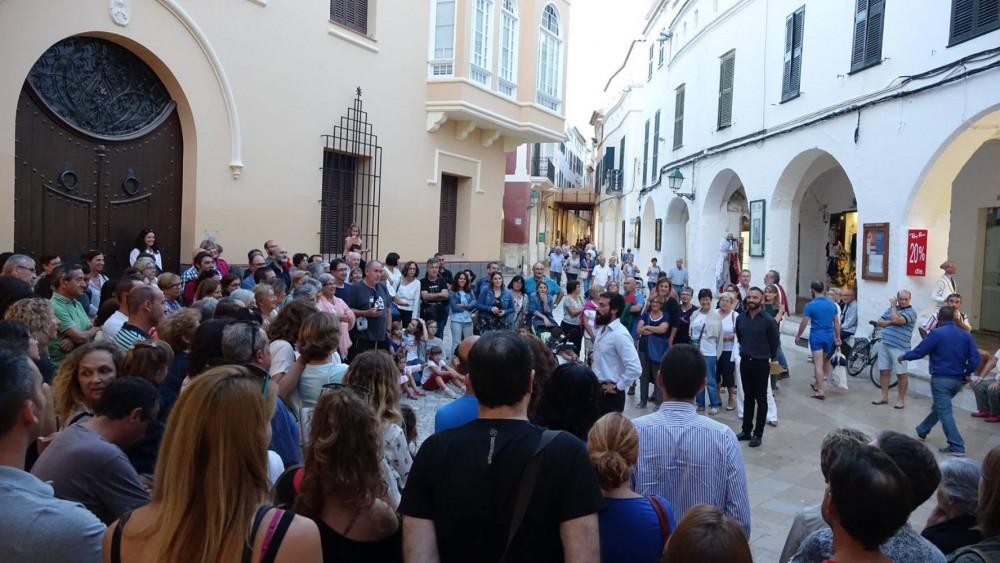 Un momento del evento en pleno centro de Ciutadella (Fotos: Ajuntament de Ciutadella)