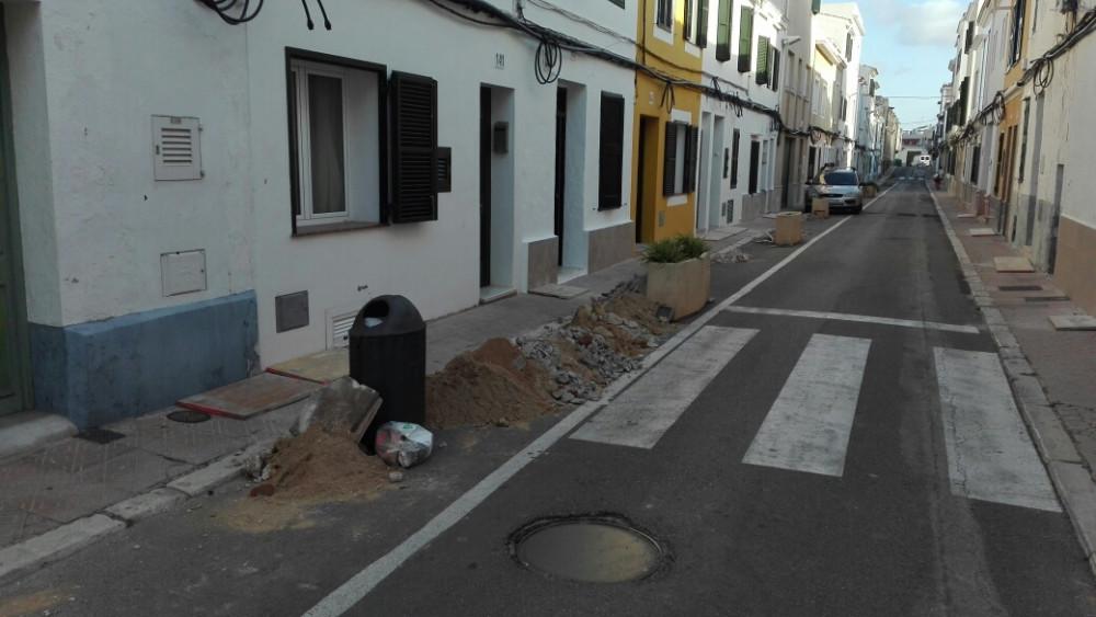 Imagen de las obras en la calle (Fotos: Ferrán Herrera)