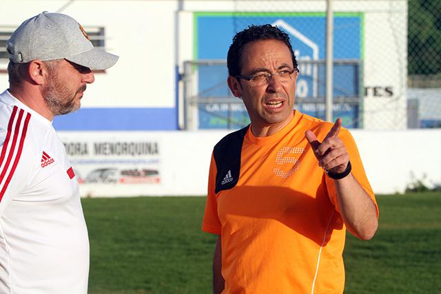 Martínez, durante un entrenamiento (Foto: deportesmenorca.com)