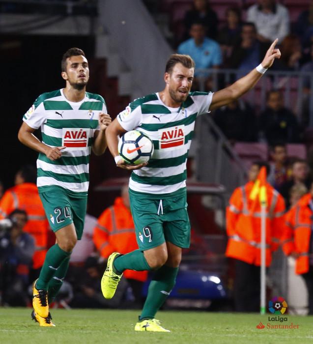 Enrich, tras anotar su gol ante el Barça (Foto: laliga.es)