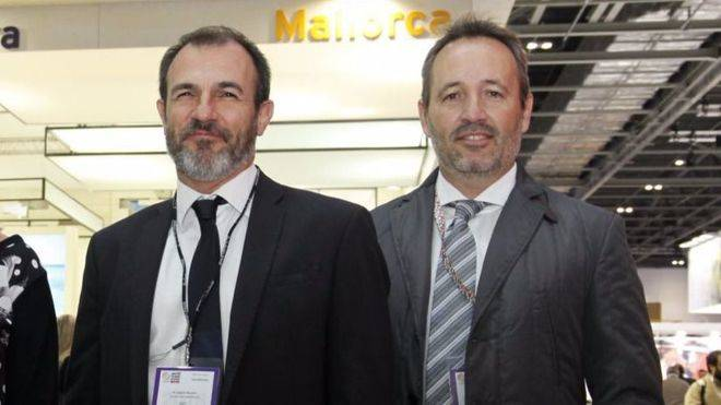 Pere Muñoz, a la derecha, junto a Biel Barceló.