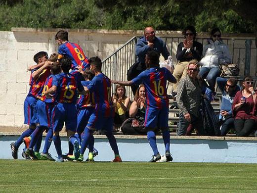 Gol del Barça cadete en la pasada edición (Foto: Tolo Mercadal)