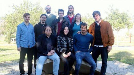 Imagen del equipo de la UIB liderado por Sintes, abajo.