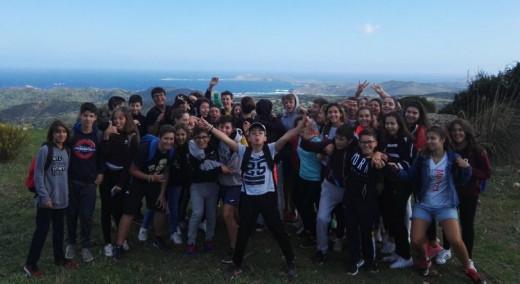 Los alumnos, durante la visita.