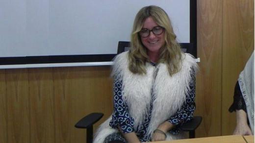 Betina Ganim, durante la entrevista.