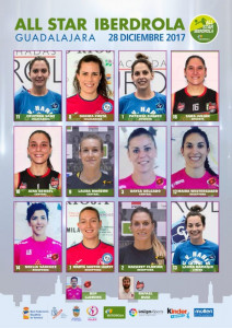 Lista de jugadoras seleccionadas.