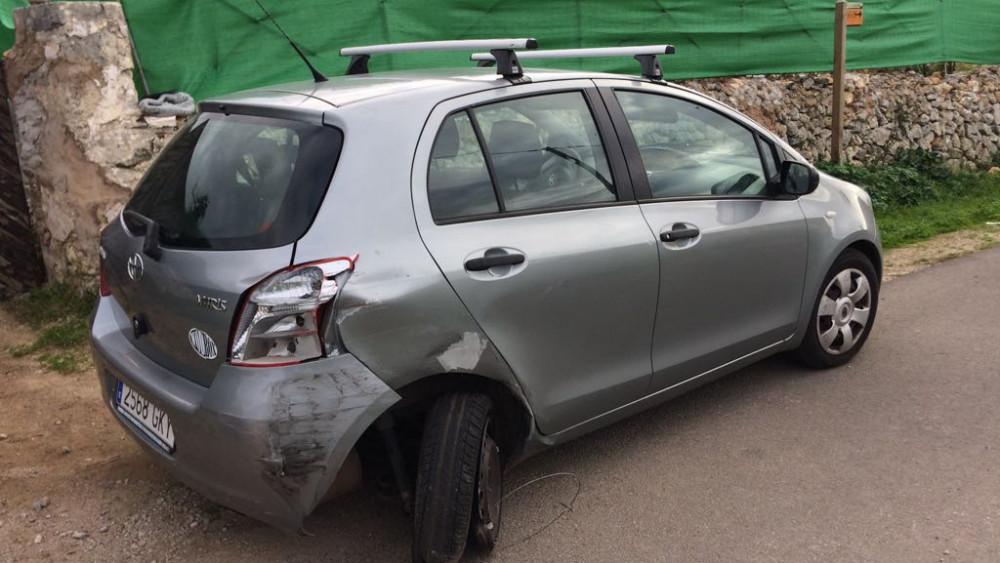 Imagen de uno de los vehículos afectados (Fotos: Tolo Mercadal)
