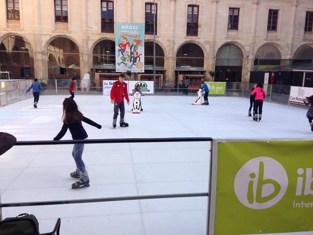 A patinar.