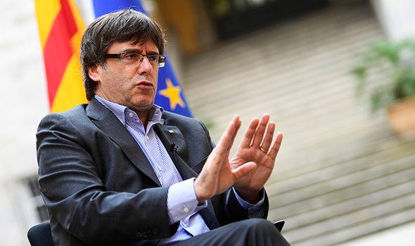 Puigdemont, durante una entrevista.