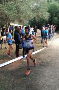 Biel Forteza, en plena carrera.