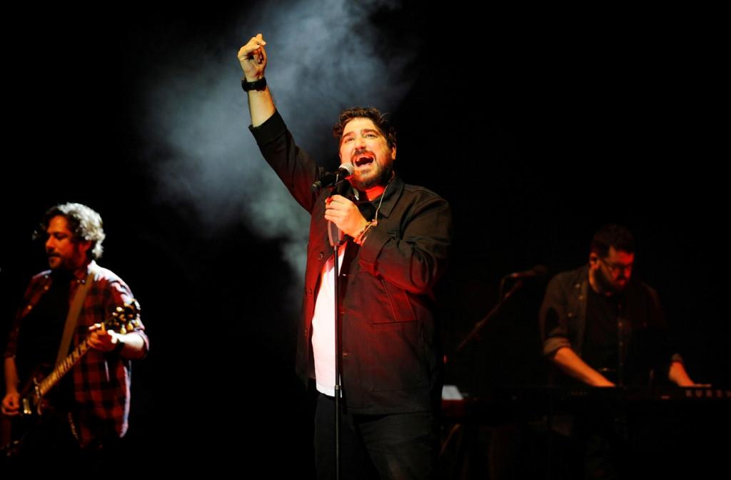 Antonio Orozco, en el Teatre Principal de Maó en un anterior recital (Foto: Tolo Mercadal)