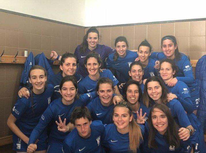 Jugadoras de la Peña Ferranca celebrando la victoria (Foto: Peña Ferranca)