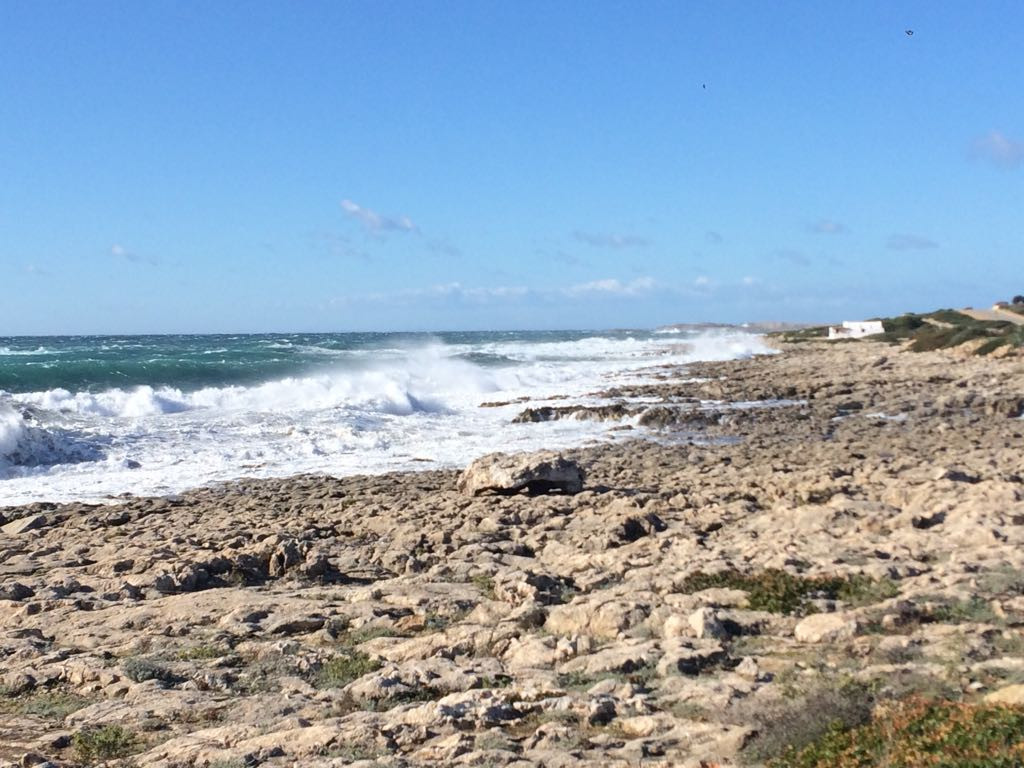 Muestra del temporal desde Son Ganxo, en Sant Lluís (Foto y vídeo: Tolo Mercadal)