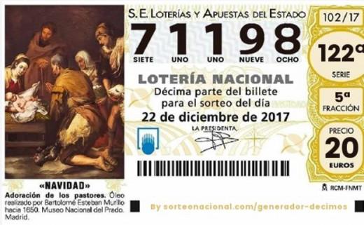 El número agraciado con el primer premio de Navidad en este 2017.