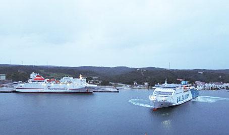 El ferry Marti i Soler ha tenido que atracar en Mahón.