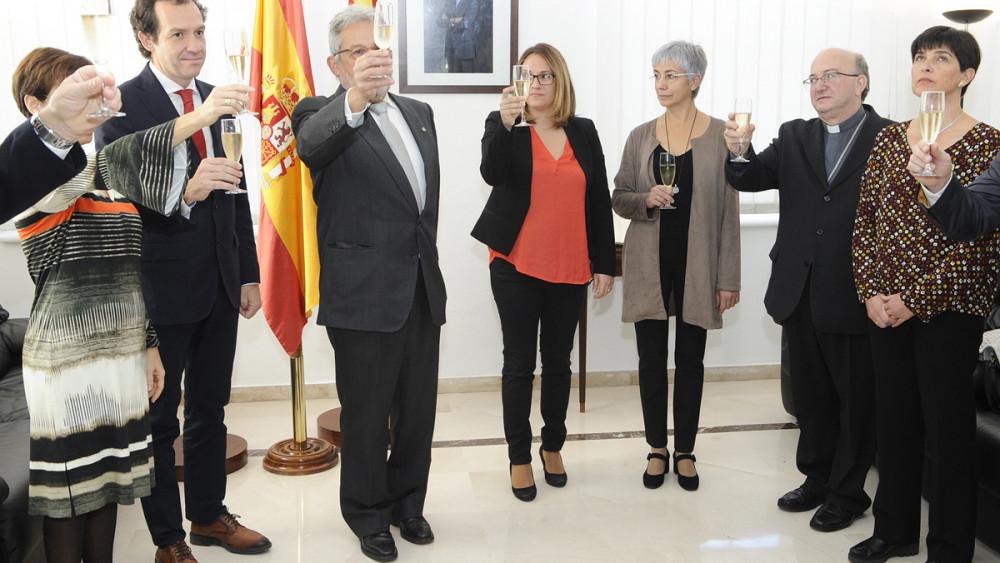 Momento del acto de homenaje (Fotos: Tolo Mercadal)