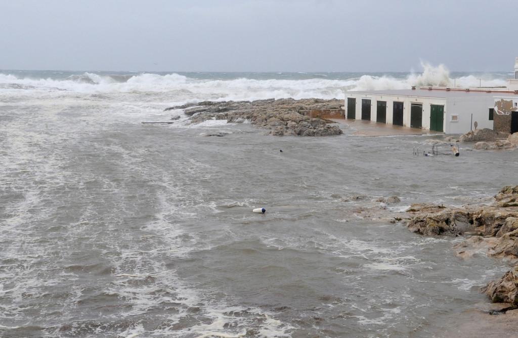 El temporal, a su paso por Biniancolla (Foto: Tolo Mercadal)
