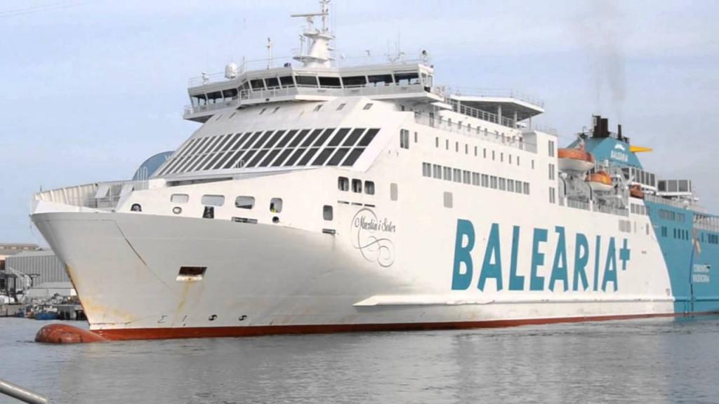 Imagen del barco Martín i Soler de Baleària.