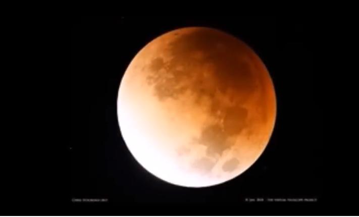 Luna de Sangre tras eclipse lunar hoy.