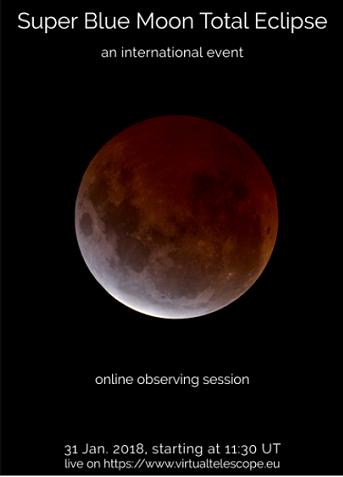 Cartel de virtual Telescope sobre el fenómeno que tendrá lugar este Miércoles.