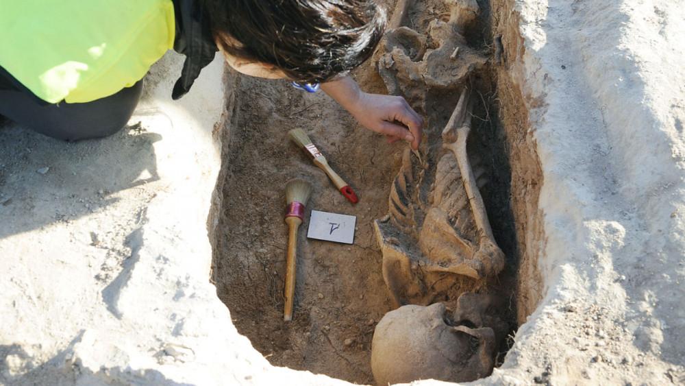 Imagen de una de las tumbas localizadas (Fotos: Tolo Mercadal)
