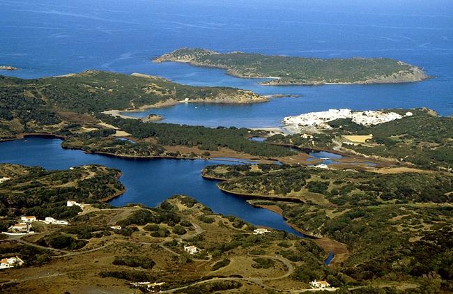 Parque natural de la Albufera d' Es Grau.