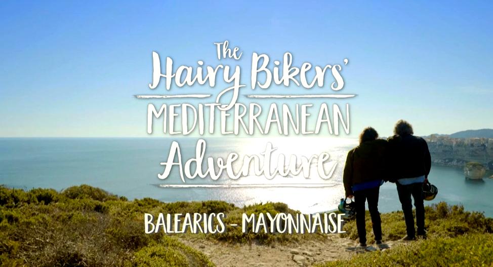 Créditos del programa Hairy Bikers dedicado a Menorca.