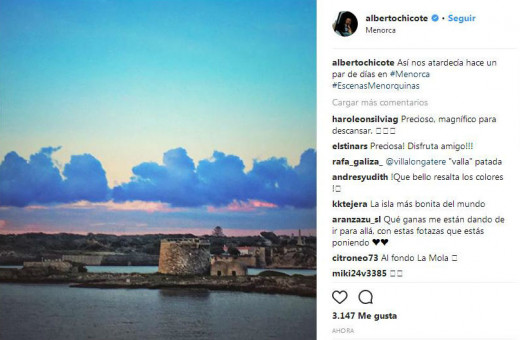 Fotografía que Chicote ha colgado en Instagram.