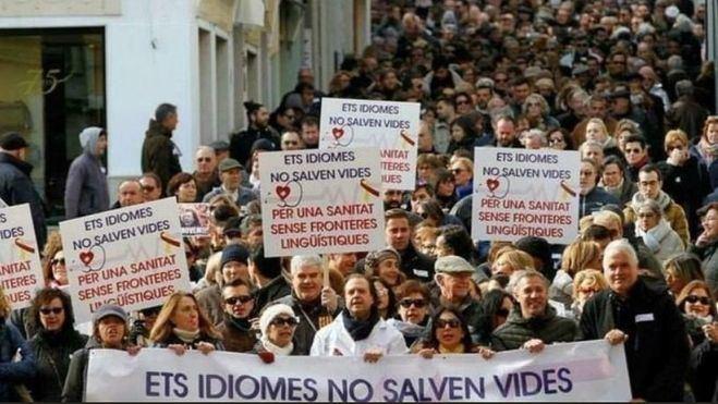 Imagen de la manifestación en Menorca.