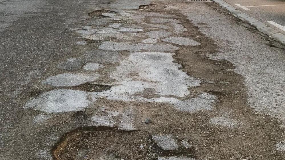 Imagen de los deterioros en la vía (Fotos: UPCM)