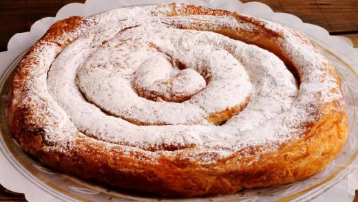 Ensaimada de la pastelería Herbera.