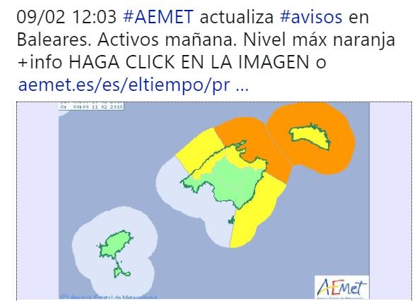 El temporal afectará de forma especialmente fuerte a Menorca.