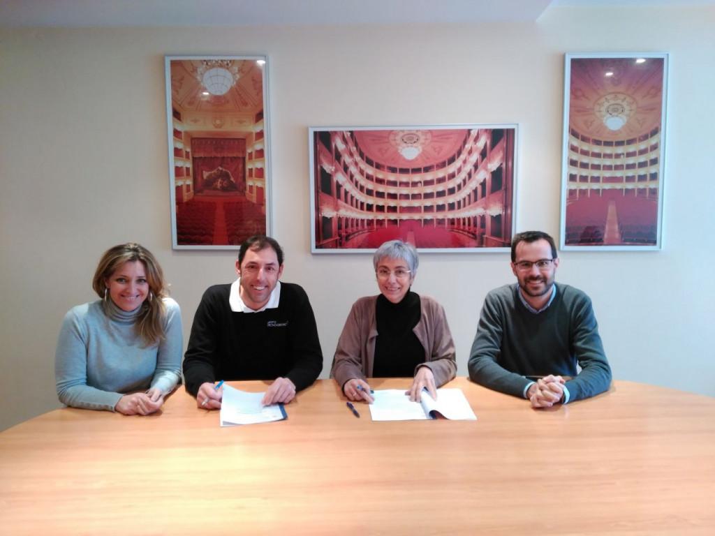 Imagen del acuerdo firmado el pasado viernes.