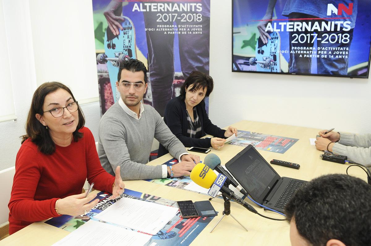 Mandi Seguí, Miquel Company y Pilar Carrasco presentaron las actividades de Alternanits.