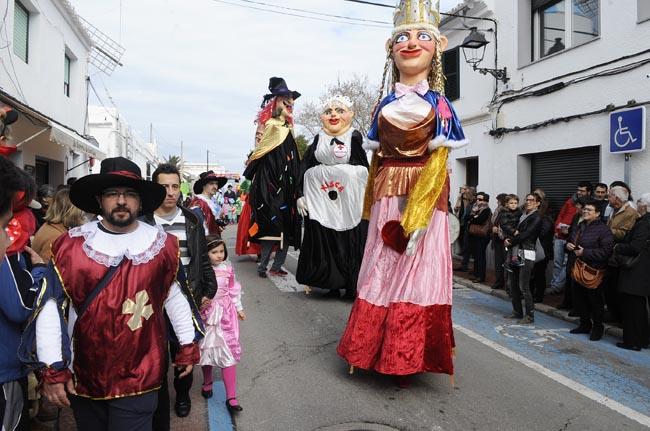 Imagen de archivo del Carnaval en Sant Lluís (Foto: Tolo Mercadal)