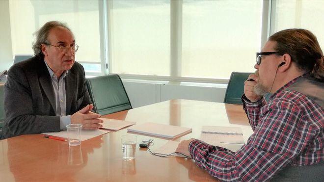 Momento de la entrevista a Martí March (Foto: mallorcadiario.com)