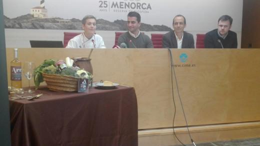 Imagen de la presentación de la muestra de cocina menorquina.  Foto: Jordi Ribera