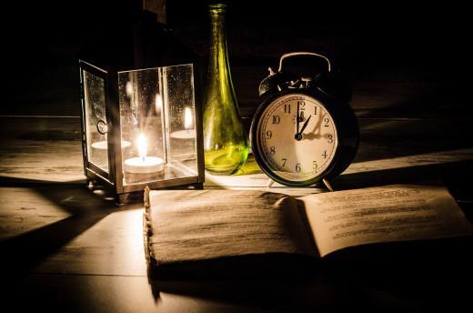 Cambiar la hora y apagar la luz