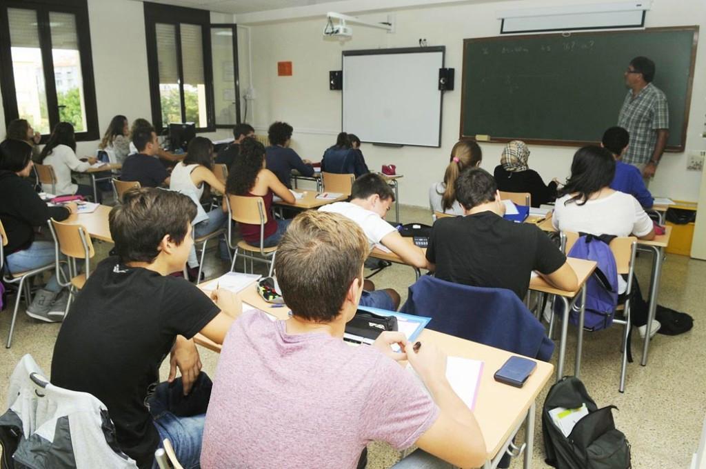 Una aula del IES Joan Ramis de Maó