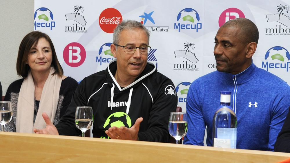 Maite Salord, Tòbal Tudurí y Vicente Engonga.