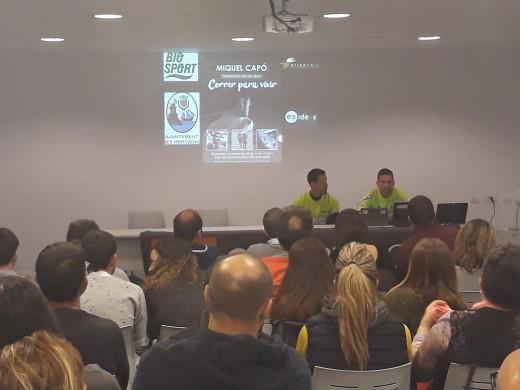 Imagen de la charla de Miquel Capó junto a Raül Riudavets.