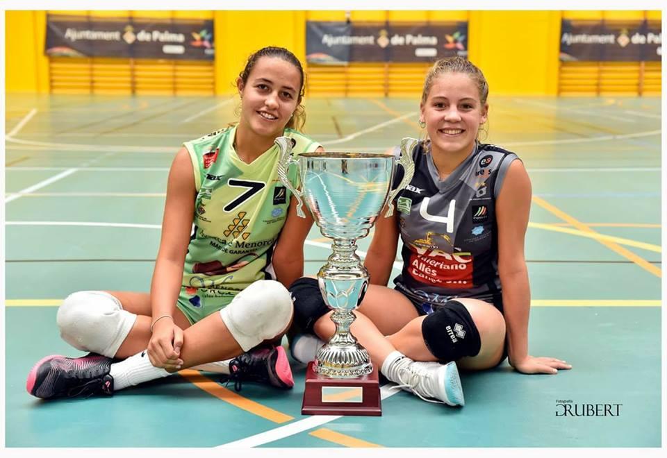 Petra Pont (izquierda) junto a Maria Antònia Gomila tras ganar el Ciutat de Palma (Foto: Rubert)