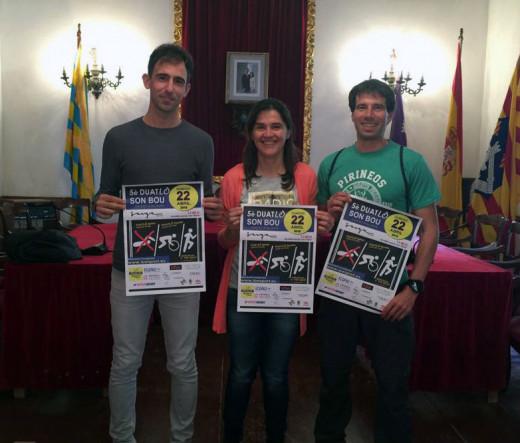 Rafel Quintana, Lucien Muller y Paco Arnau, presentando el evento.
