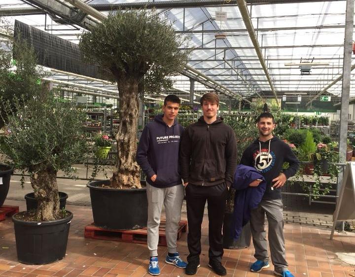Xavi Jorge i Santi al Mercat de flors de Dresden