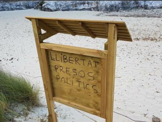 NNGG pide al Consell eliminar las pintadas en pro de los 'presos políticos'