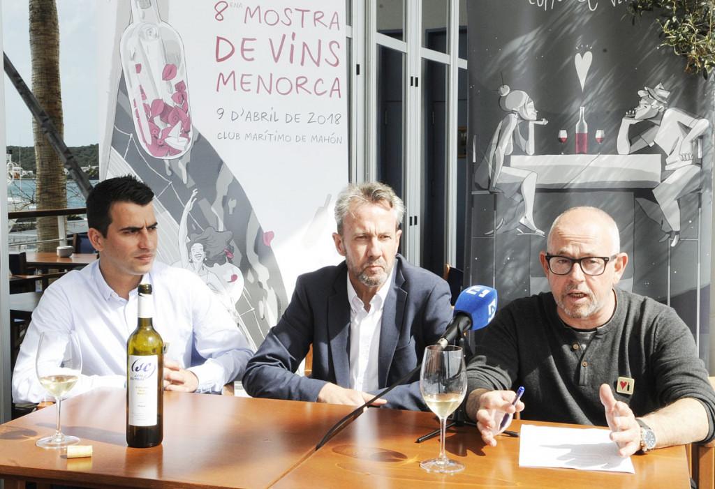 Los organizadores han presentado esta mañana la octava edición de muestra de Vins Menorca.