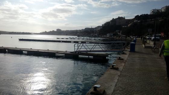 Moll de Ponent del puerto de Maó.