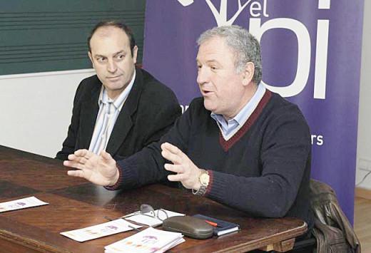 Llorenç Carretero, junto a Florencio Conde.